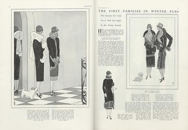The First Families in Winter Furs