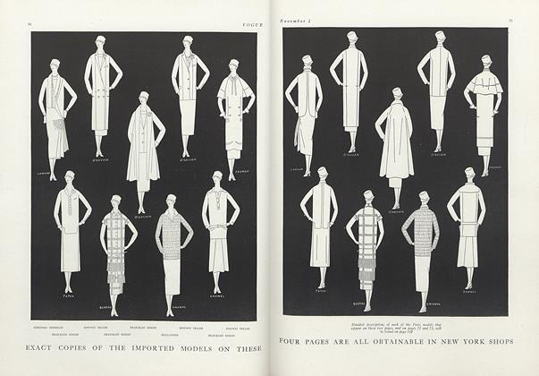 Copies of Imported French Models Obtainable in New York