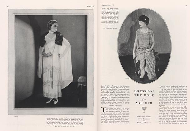 Dressing the Role of the Mother from Costumes Worn by Effie Shannon and Lucille Watson