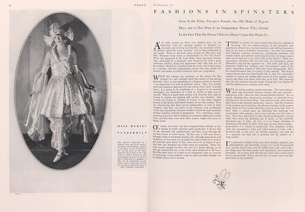 Fashions in Spinsters