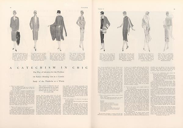 A Catechism in Chic