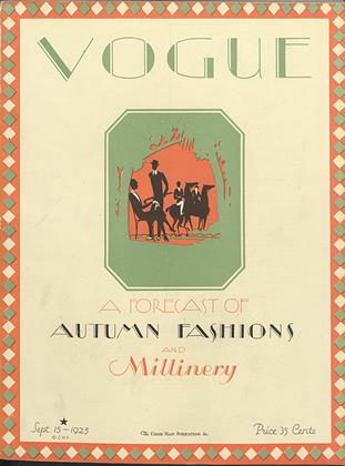 Cover for the September 15 1925 issue