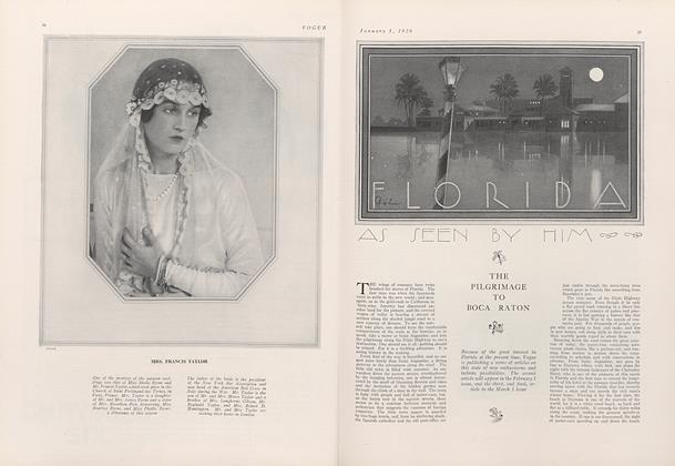 Article Preview: Florida, January 1 1926 | Vogue