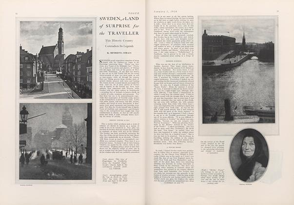 Article Preview: Sweden, a Land of Surprise for the Traveller, January 1 1926 | Vogue