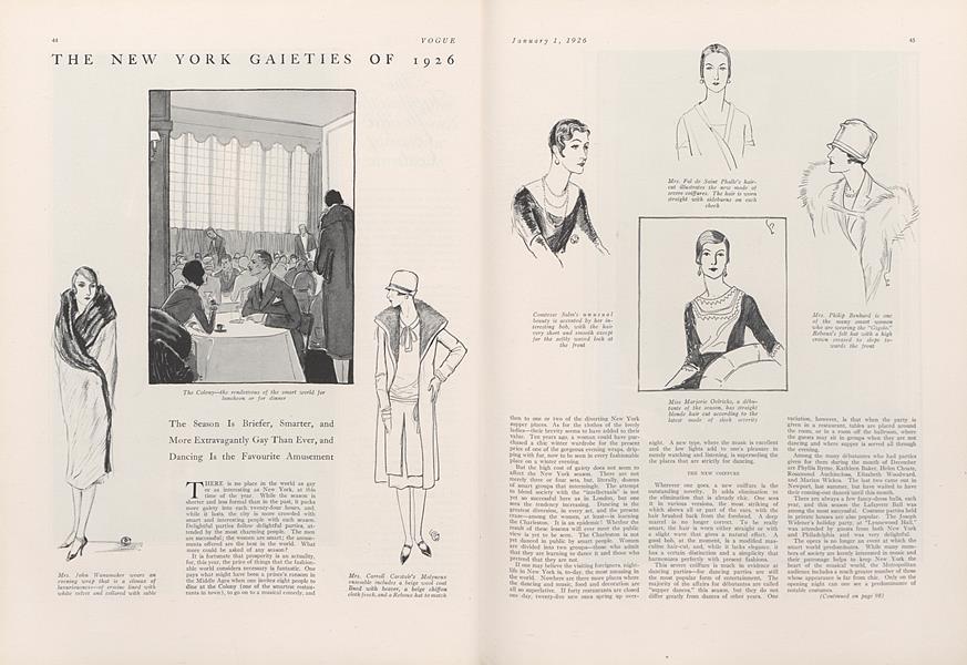 The New York Gaieties of 1926
