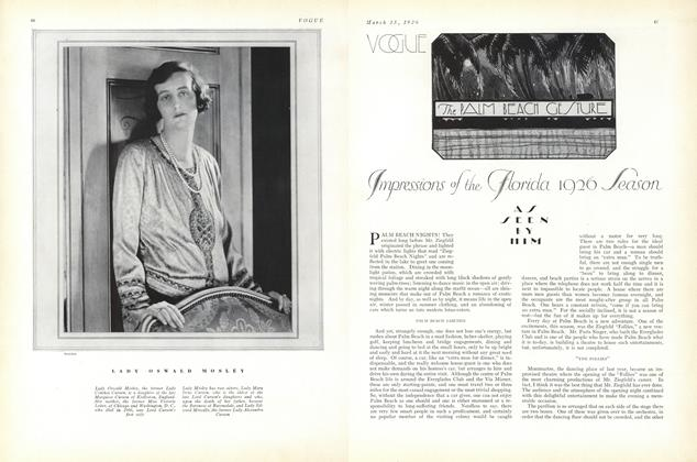 Article Preview: The Palm Beach Gesture, March 15 1926 | Vogue