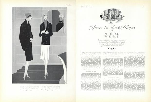 Article Preview: Seen in the Shops of New York, March 15 1926 | Vogue