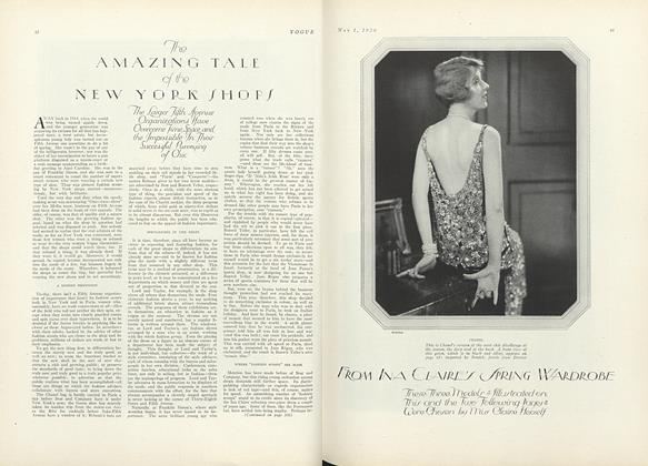 The Amazing Tale of the New York Shops