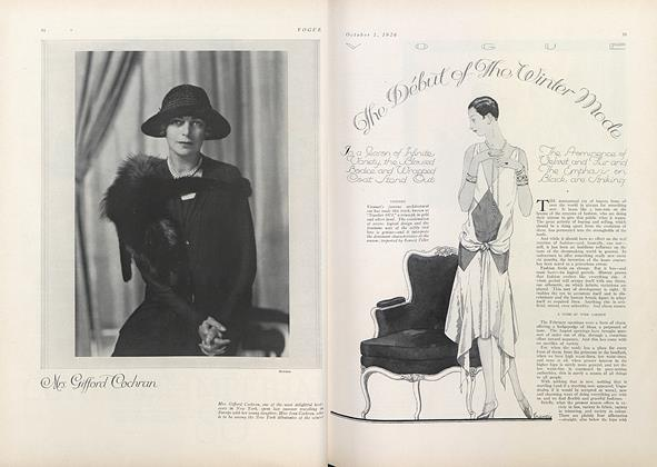 Article Preview: The Debut of the Winter Mode, October 1 1926 | Vogue