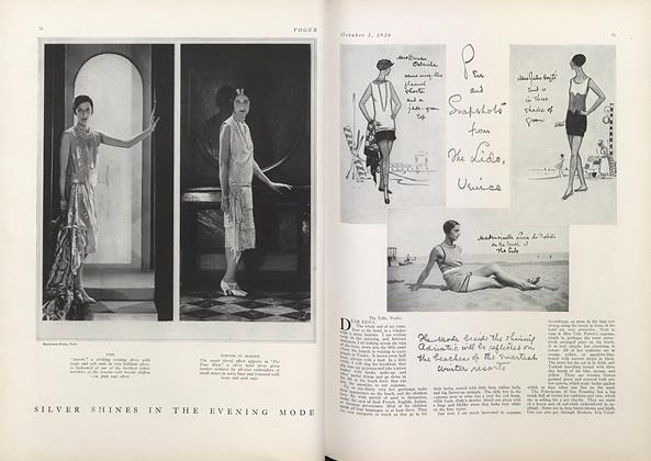 Article Preview: Pen and Snapshots from the Lido, Venice, October 1 1926 | Vogue