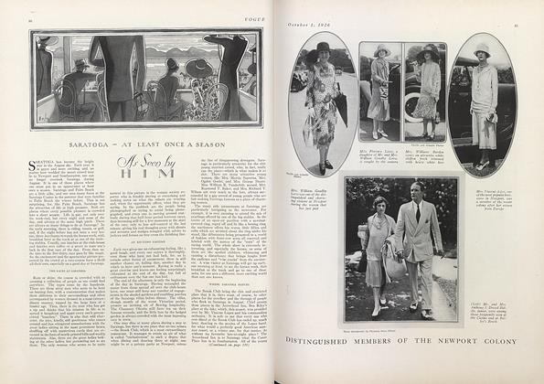 Article Preview: Saratoga—At Least Once a Season, October 1 1926 | Vogue