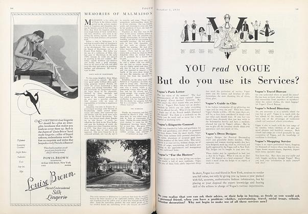 Article Preview: Memories of Malmaison, October 1 1926 | Vogue