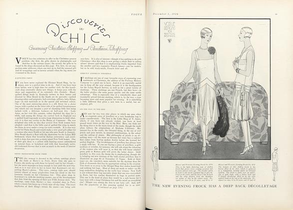 Discoveries in Chic