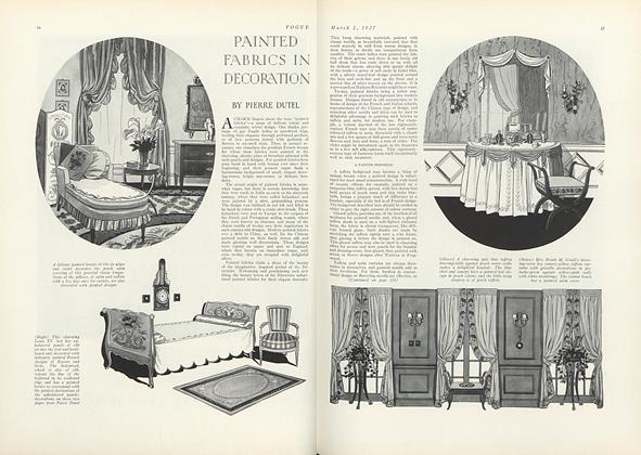 Painted Fabrics in Decoration