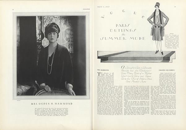 Article Preview: Paris Outlines the Summer Mode, April 1 1927 | Vogue