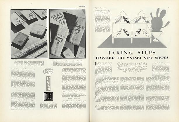 Article Preview: Taking Steps Toward the Smart New Shoes, April 1 1927 | Vogue