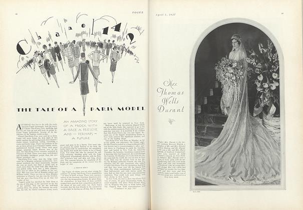 Article Preview: Chanel 142: The Tale of a Paris Model, April 1 1927 | Vogue