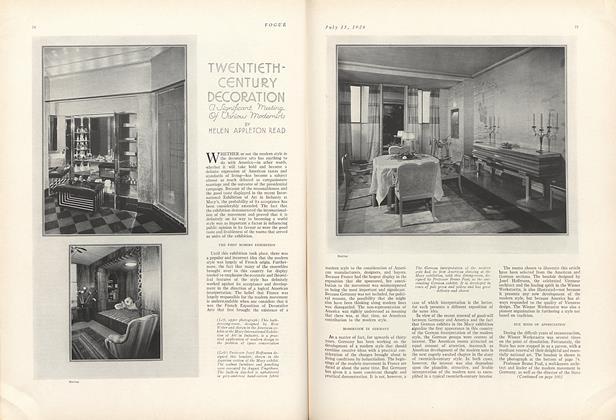 Twentieth-Century Decoration