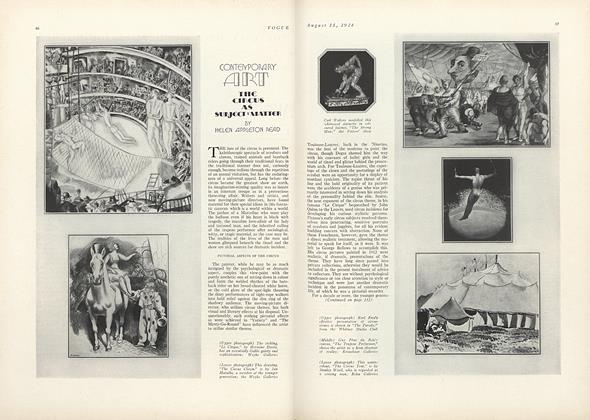 Contemporary Art: The Circus as Subject-Matter