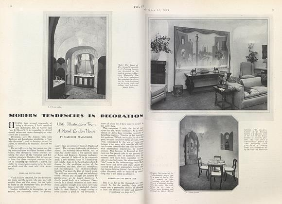 Modern Tendencies in Decoration