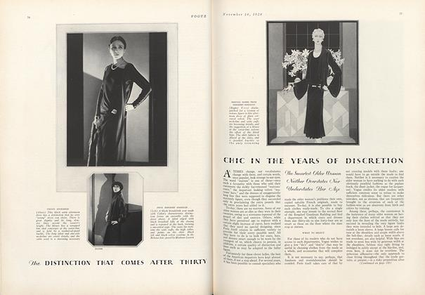 Chic in the Years of Discretion