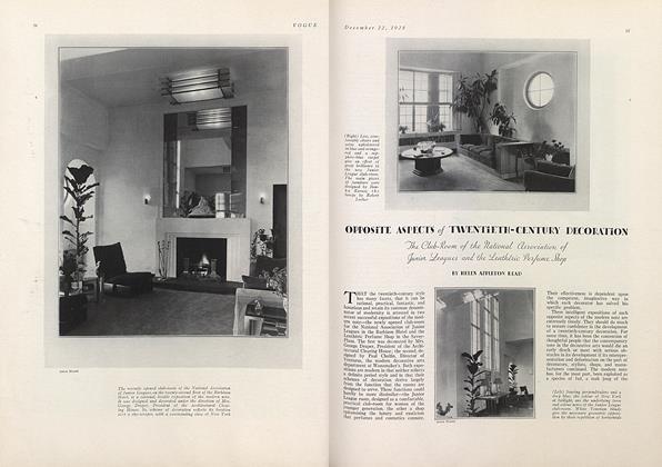 Opposite Aspects of Twentieth-Century Decoration