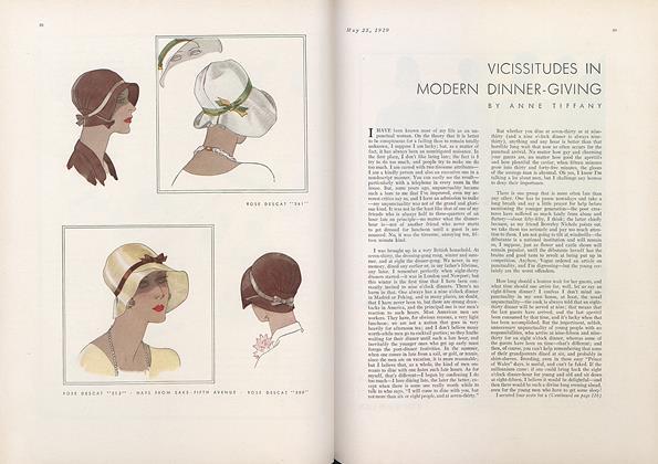 Vicissitudes in Modern Dinner-Giving
