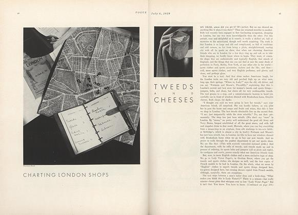 Charting London Shops: Tweeds and Cheeses