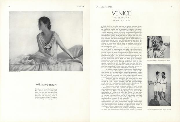 Venice: The Season