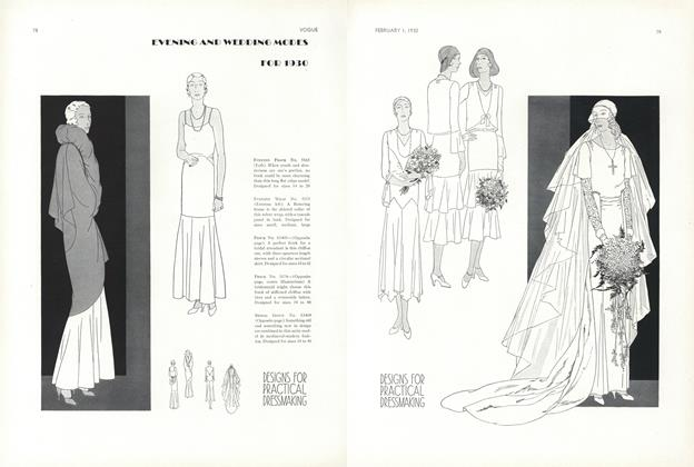 Evening and Wedding Modes for 1930