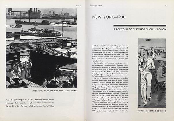 New York—1930: A Portfolio of Drawings by Carl Erickson