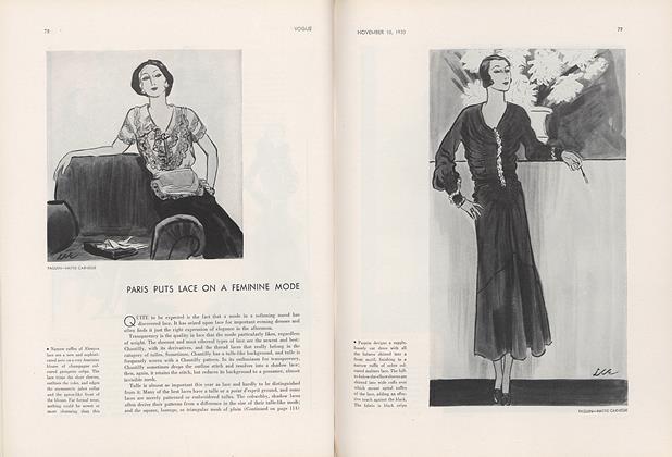 Paris Puts Lace on a Feminine Mode
