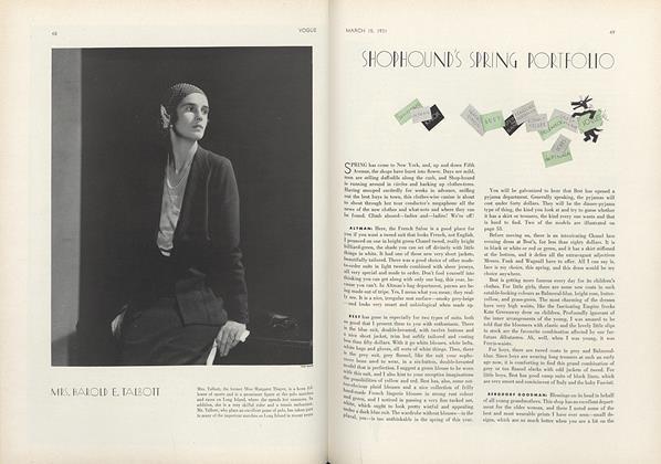 Article Preview: Shophound's Spring Portfolio, March 15 1931 | Vogue