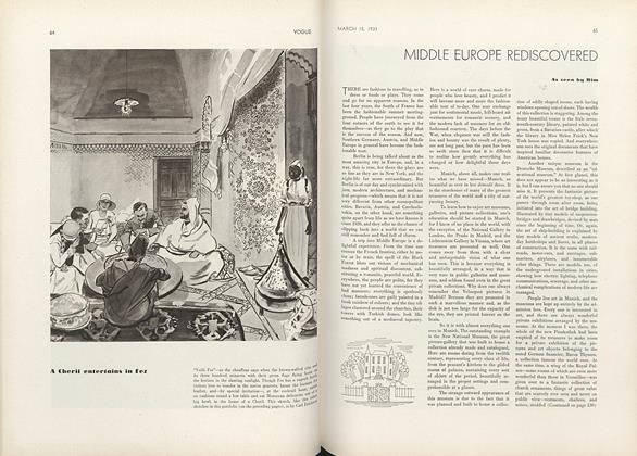 Article Preview: Middle Europe Rediscovered, March 15 1931 | Vogue