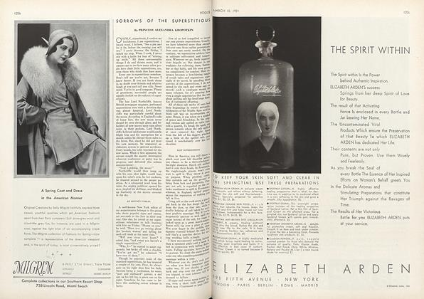 Article Preview: Sorrows of the Superstitious, March 15 1931 | Vogue