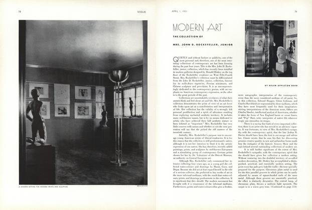 Modern Art: The Collection of Mrs. John D. Rockefeller, Junior