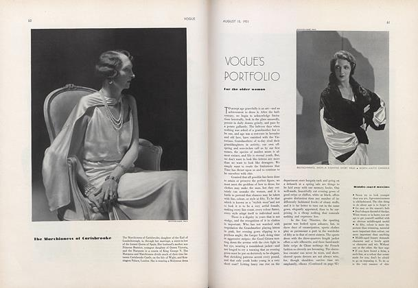 Vogue's Portfolio for the Older Woman