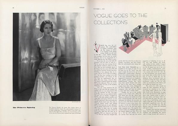 Article Preview: Vogue Goes to the Collections, October 1 1931 | Vogue