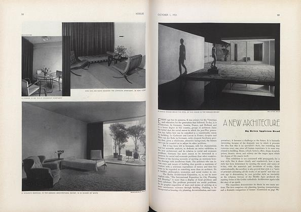 Article Preview: A New Architecture, October 1 1931 | Vogue