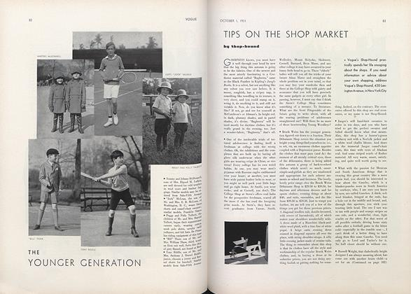 Article Preview: Tips on the Shop Market by Shop-Hound, October 1 1931 | Vogue