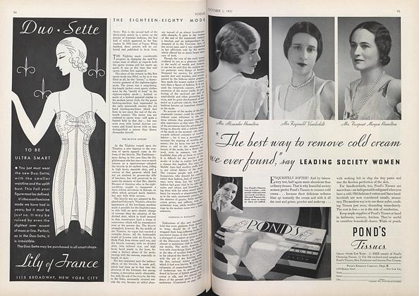 Article Preview: The Eighteen-Eighty Mode, October 1 1931 | Vogue
