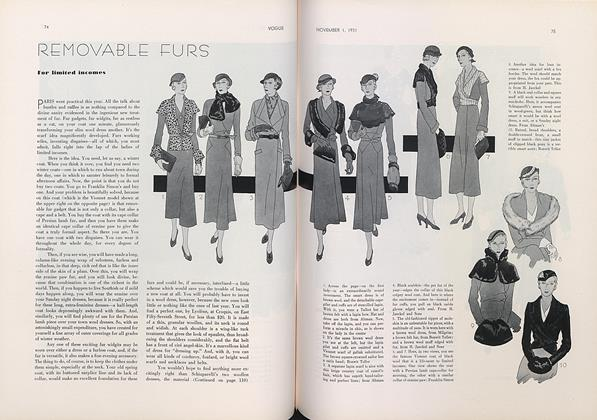 Removable Furs for Limited Incomes