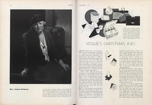 Article Preview: Vogue's Christmas A.B.C., December 1 1931 | Vogue