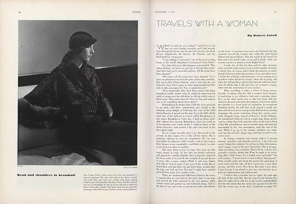 Article Preview: Travels with a Woman, December 1 1931 | Vogue