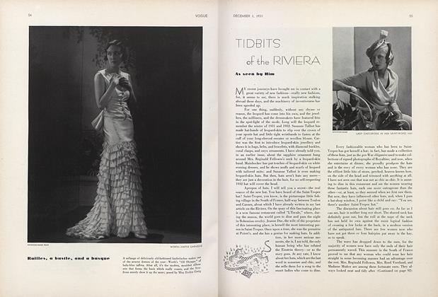 Article Preview: Tidbits of the Riviera, December 1 1931 | Vogue