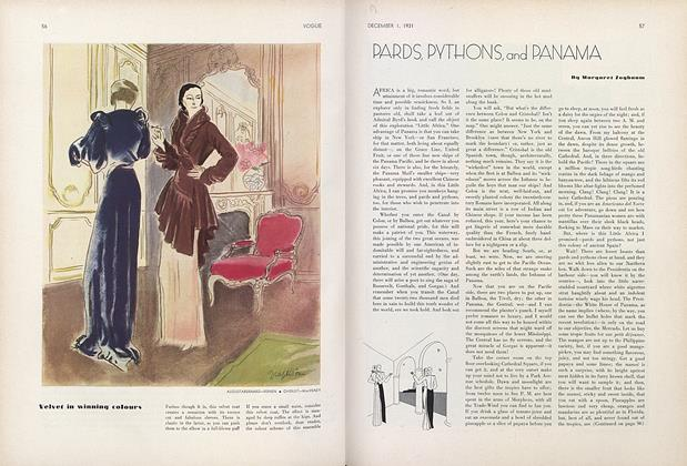 Article Preview: Pards, Pythons, and Panama, December 1 1931 | Vogue