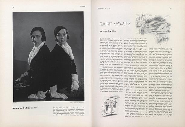 Article Preview: Saint Moritz, January 1 1932 | Vogue