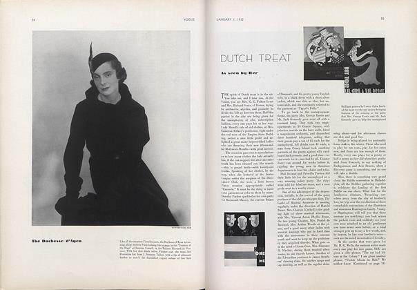 Article Preview: Dutch Treat, January 1 1932 | Vogue