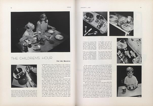Article Preview: The Children's Hour: For the Hostess, January 1 1932 | Vogue
