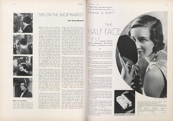 Article Preview: Shop-Hound: Tips On the Shop Market, January 1 1932 | Vogue